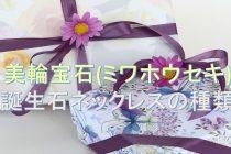 誕生石のネックレスの種類について【誕生石ブランド「美輪宝石(ミワホウセキ)」編】