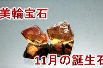 人気のイニシャルネックレス!11月の誕生石「シトリン」のアルファベット誕生石ネックレス【美輪宝石】