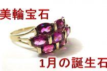 人気のイニシャルネックレス!1月の誕生石「ガーネット」のアルファベット誕生石ネックレス【美輪宝石】